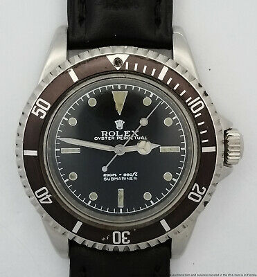 $ CDN6137.67 • Buy Genuine Rolex Submariner 5513 1964 Vintage Mens Stainless Steel Wrist Watch Runs