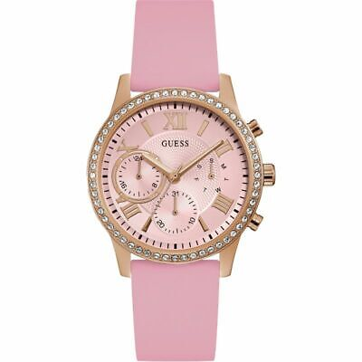 $ CDN82.45 • Buy Guess Women's Solar W1135L2 40mm Pink Dial Rubber Watch
