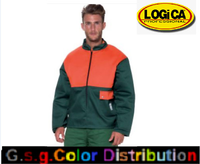 Jacket Mens Work Protection Chainsaw Col.verde/Orange Anti Cut Class 1 • 161.23£