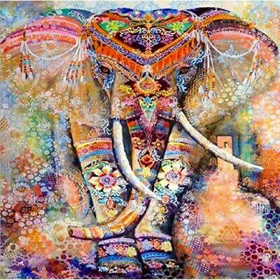 AU17.49 • Buy Full 5D Drill Diamond Painting Rhinestone Elephant Kits Art Handmade