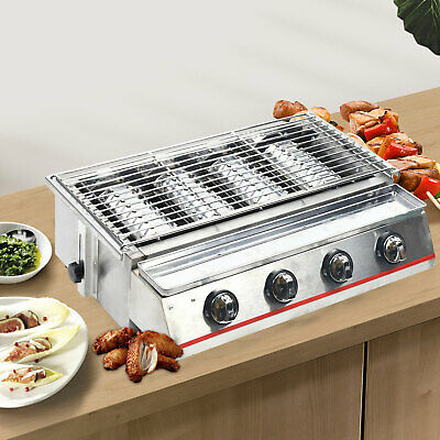 AU316.99 • Buy 4 Burner Outdoor Portable BBQ Gas Grill Barbecue Camping Picnic Roast Smokeless