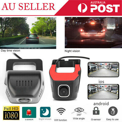 AU39.08 • Buy 160°WiFi Car Camera Full HD 1080P DVR Video Recorder Dash Camera For Android IOS