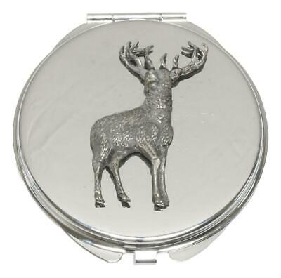 Standing Stag Compact Mirror Handbag Gift With Free Engraving 348 • 12.99£