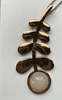 Orla Kiely 18ct Rose 18ct Gold Plated Leaf Necklace With 34cm Chain • 16£