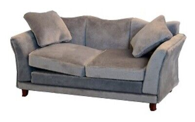 Dolls House Emporium 1/12th Scale Grey Modern Sofa With Matching Footstool • 23.99£