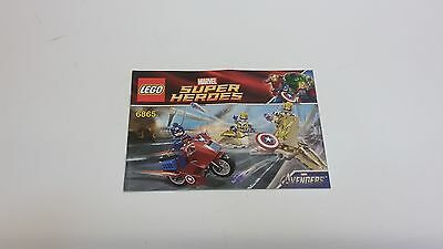 Lego  !! Instructions Only !! For 6865 Super Heroes Captain America's Bike • 0.99£