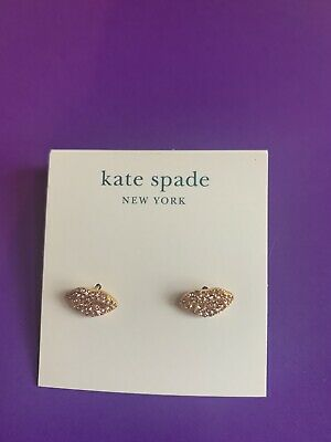 $ CDN32.38 • Buy BN Kate Spade Sparky Pink Red Lipps Stud Earrings -Chic Charming
