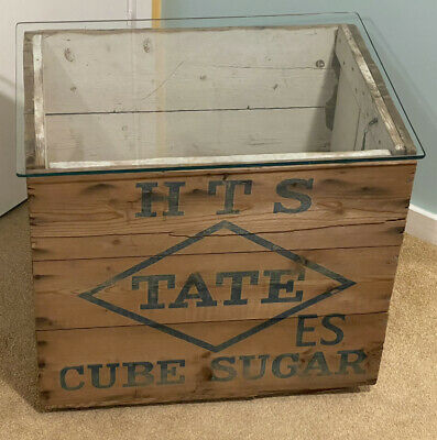 Upcycled Vintage Furniture Shabby Chic Tate & Lyle Cube Sugar Box Coffee Table • 49.99£