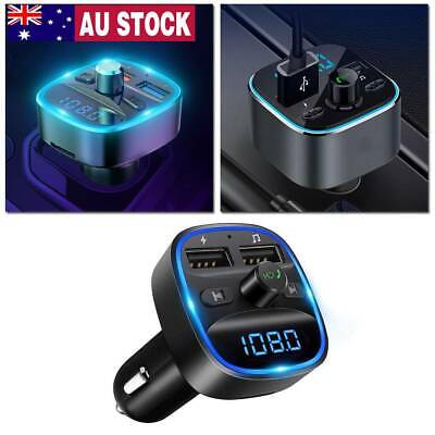 AU12.99 • Buy Wireless Bluetooth Car Handsfree Kit FM Transmitter Radio MP3 Player/USB Charger