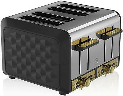 Swan Gatsby 4 Slice Toaster Electronic Browning Controls • 59.99£