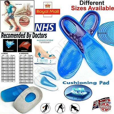 Unisex Orthopaedic Memory Foam Shoe Pads Trainer Soft Foot Feet Comfort Insoles • 4.10£