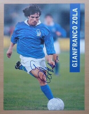 £10 • Buy Gianfranco Zola Signed Italy Action Picture - Chelsea With COA (19816)