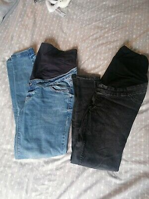 Maternity Over Bump Jeans Bundle Size 10 New Look Skinny Jeans, Black And Blue • 4.20£