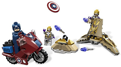 LEGO 6865 – Captain America's Avenging Cycle – 63 Parts – 3 Minifigs • 10£