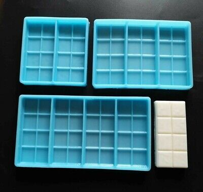 Square Chunks Snap Bar Silicone Mould For Wax Melts, Candles, Soaps, Resin Tarts • 6.99£