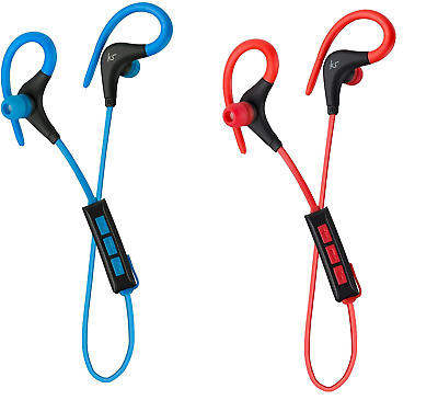 $ CDN12.07 • Buy KitSound Race In Ear Wireless Bluetooth Headphones Blue/Red