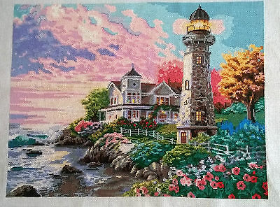 LIGHTHOUSE - Finished Completed Cross Stitch • 389£