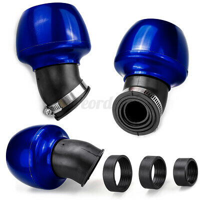 £7.99 • Buy Air Filter 28-48mm Jet Cone Blue Effect 45 Degree Angled Neck Dirt Pit Bike `.