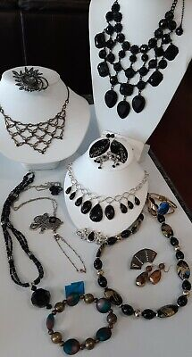 $ CDN22.95 • Buy 💋Vintage~Beautiful~Necklaces~Jewlery Glass~Crystal~Rhinestones~Lot Some,Signed!