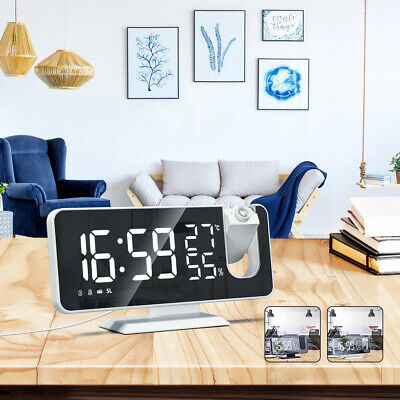 AU30.99 • Buy Smart Digital LED Projection Alarm Clock Time Temperature Projector FM Radio
