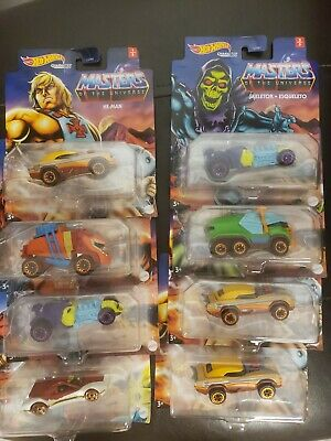 $55 • Buy Masters Of The Universe Character Cars - Hot Wheels (2021) Sealed Case Of 8