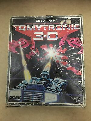 Tomytronic 3D Sky Attack Fully Working Retro Handheld Electronic Video Game 1983 • 90£