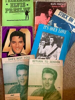 Job Lot Vintage Elvis Presley Sheet Music Collection Collectable • 20£