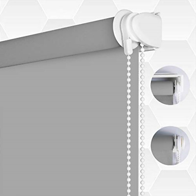 SMONTER 100% Blackout Waterproof Fabric Window Roller Shades Blind, Thermal Easy • 49.21£