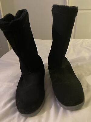 Ladies Boots. Slip On. Crocs. Size W8. Uk 5. Black • 4.99£