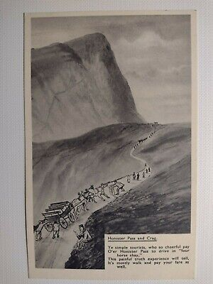 C1920's Vintage Postcard Honister Pass And Crag In Pencil By Abrahams Keswick • 2.99£