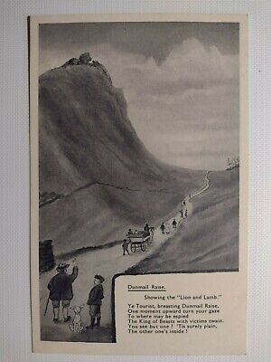 C1920's Vintage Postcard Dunmail Rise - In Pencil By Abrahams, Keswick • 2.99£
