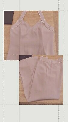 Beautiful Dusty Pink Beaded Trousersuit From Next Size 16 • 29.99£