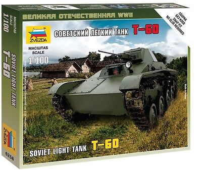 AU12.10 • Buy Zvezda 1/100 Soviet Light Tank T-60 # 6258