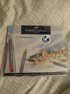 Faber Castell Goldfaber Aqua Watercolour Pencils In Tin Set Of 24  - New • 9.90£