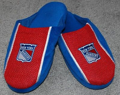 £10.16 • Buy NHL New York Rangers Jersey Mesh Slide Slippers – Size Youth XLarge (7/8)