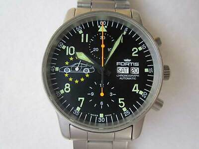 £858.82 • Buy Authentic FORTIS Watch Chronograph Porsche Day Date Automatic ETA7750 SS