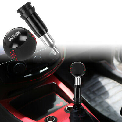 $18 • Buy RALLIART Leather Black Round Ball Shift Knob Automatic Car Racing Gear Shifter