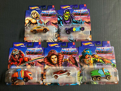 $49.99 • Buy 2021 Hot Wheels Complete He-Man Masters Of The Universe Character Car Set (5)