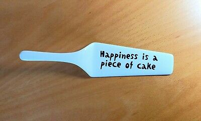 Happiness Is A Piece Of Cake  Ceramic Cake Server • 1.99£