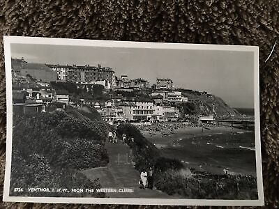 1961 Black & White Postcard Ventnor, Isle Of Wight - From Western Cliffs-Posted • 1.20£