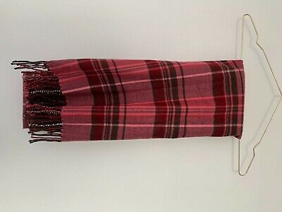 Brand New Gap Super Soft Tartan Check Fringed Pink Red Scarf • 6£