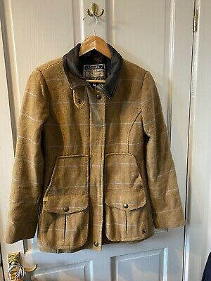 Joules Brown Tweed Shooting/hunting/riding Field Coat With Stripe Size 8 • 22£