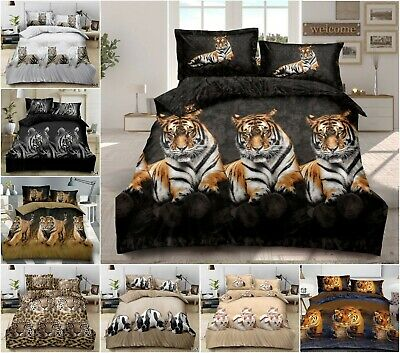 3D Duvet Set With Quilt Cover, Fitted Sheet & Pillow Cases Single Double Bedding • 23.48£