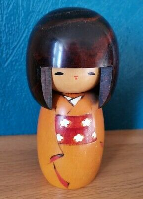 Japanese Kokeshi Wooden Doll Nodoka Peace And Tranquility 5.25 Inches High • 12£