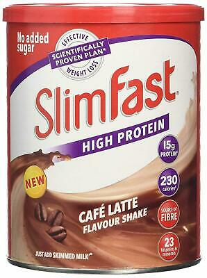 Slim Fast Meal Replacement Powder Shake Cafe Latte - 438g • 7.28£