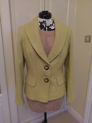 ALEX & Co Pale Lime Green Lined Jacket Size 12  • 6.99£