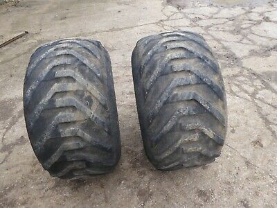 Ford NH Flotation Front Tractor Wheels Goodyear Terra Tyres 38/20 X16 • 35£