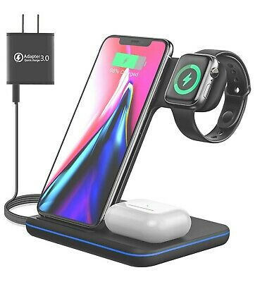 $ CDN38.28 • Buy Moing Wireless Charger, 3 In 1 Wireless Charging Station For Apple Watch, AirPod