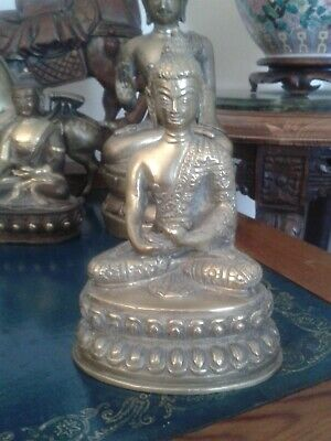 Antique Shakyamuni Brass/bronze Buddha • 39.99£