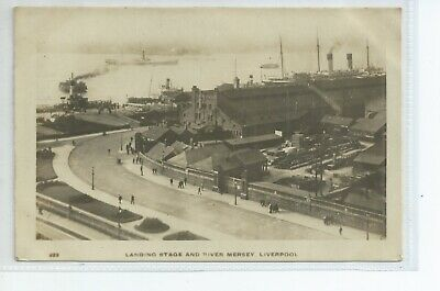 £5 • Buy Real Photo Postcard Of The Landing Stage And River Mersey Liverpool Merseyside